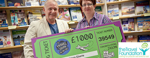 Jason Eberle is this month's Travel Foundation's £1000 winner
